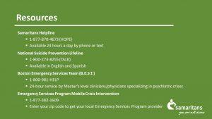 Presentation slide with resources