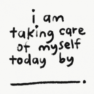 Self-care graphic from presentation