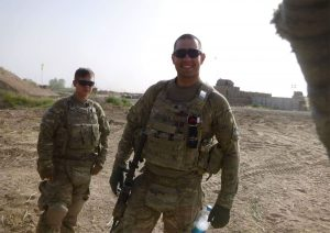 Jeffrey Machado, one of the lead plaintiffs, while serving in Afghanistan.