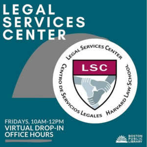 LSC Drop-in Hours with Boston Public Library Fridays 10-12
