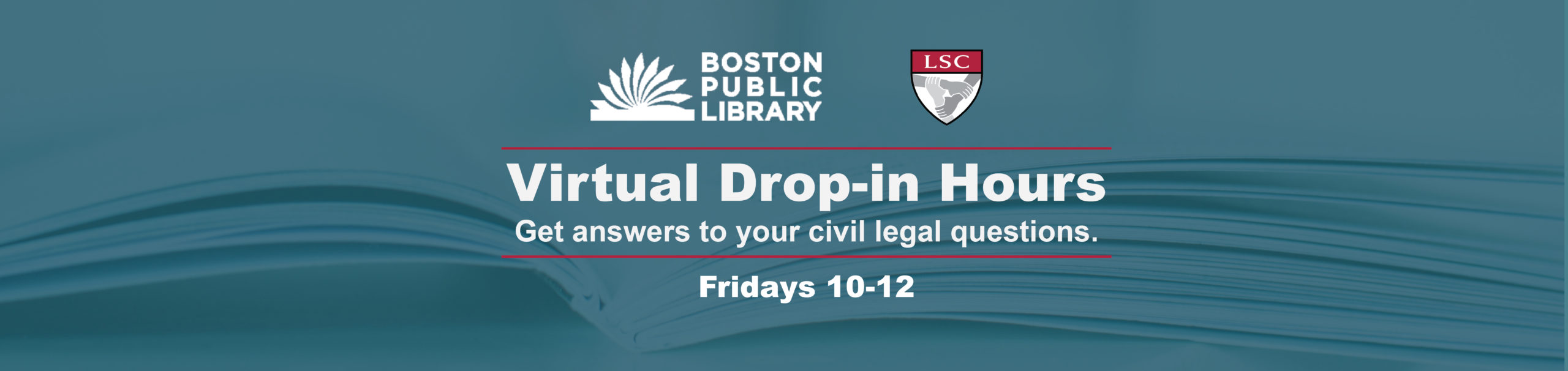 Library Drop-in Hours Fridays 10-12